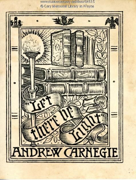This Bookplate Was Donated By The Office Of Andrew Carnegie As Part Of A Bookplate Collection Intended To Honor Annie Louise Car Book Plates Ex Libris Book Art