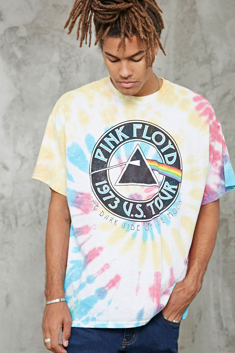 73e9c618 A colorful tie-dye band tee featuring