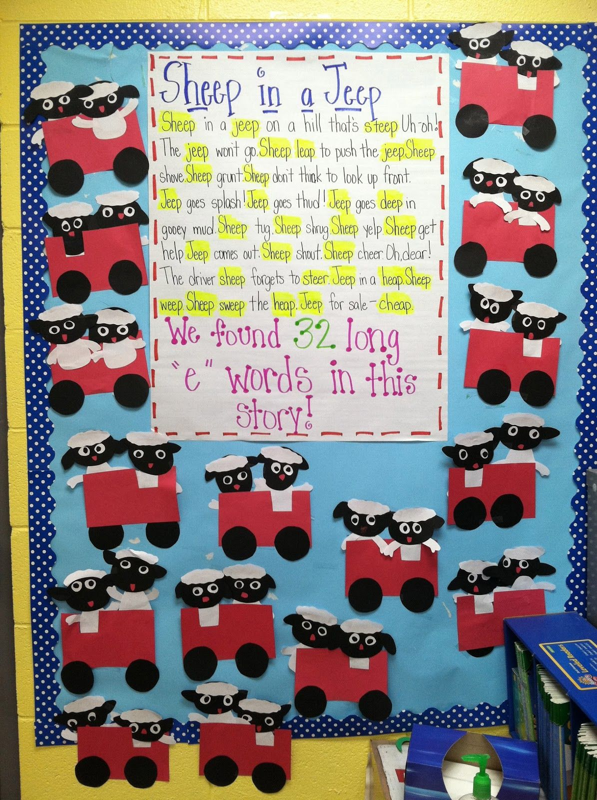 Life In First Grade Sheep In A Jeep Teaching Long E