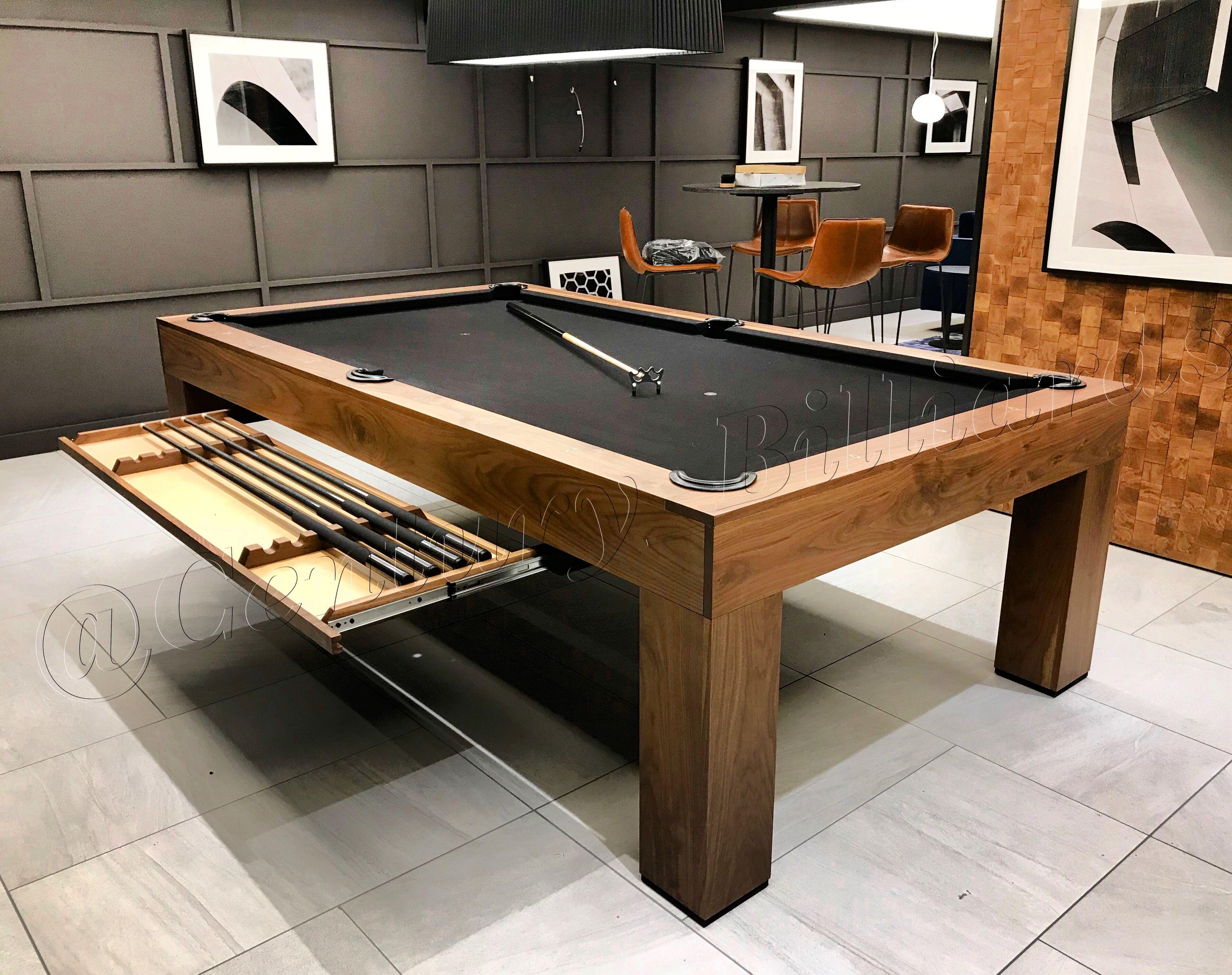 Custom Walnut Parsons Pool Table Pool Table Room Pool Table Room Decor Diy Pool Table