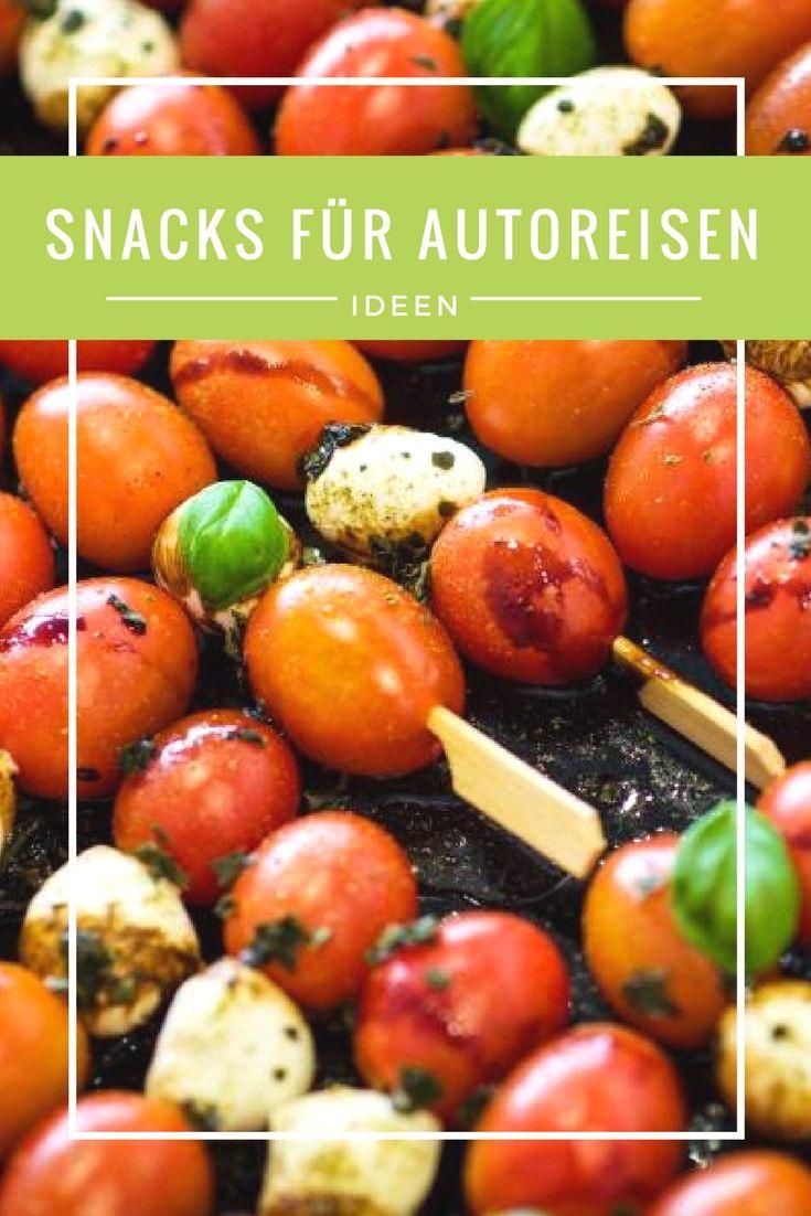 snacks für die autofahrt fingerfood und gesundes essen