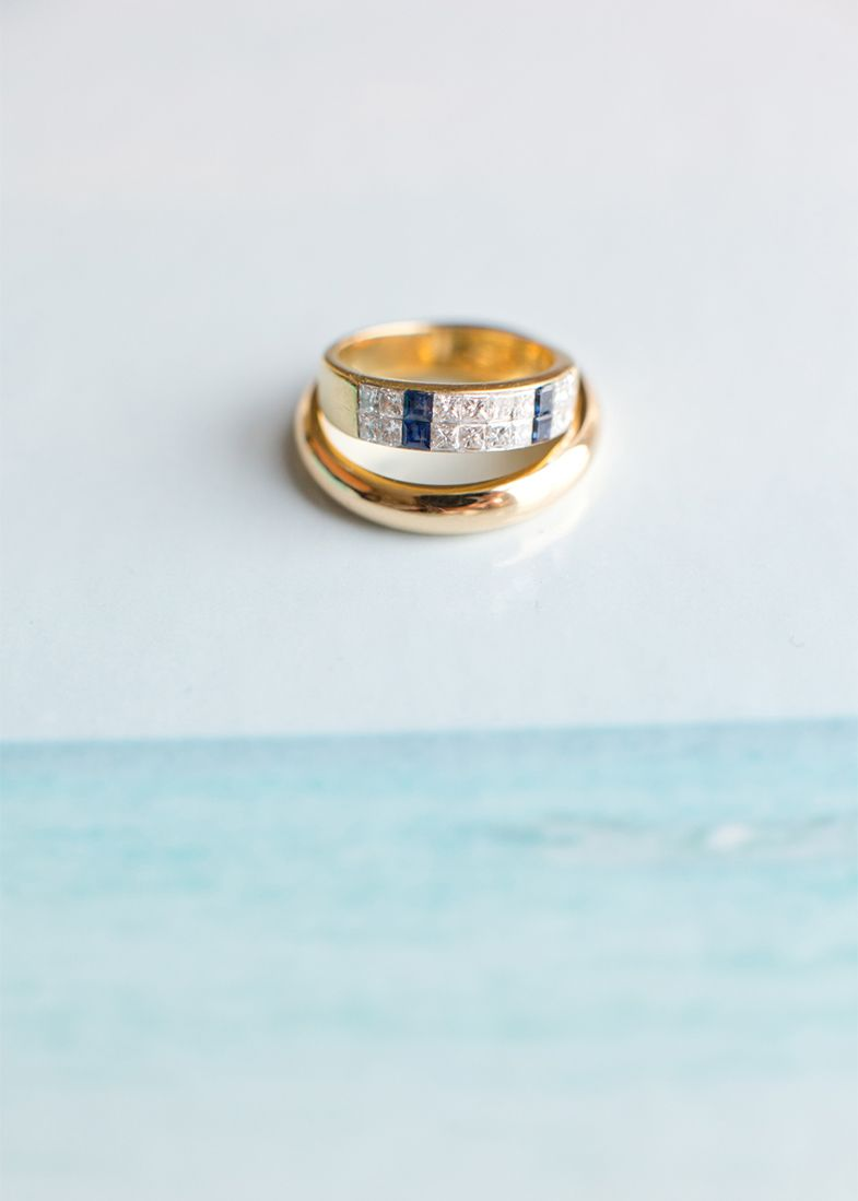 Wedding Rings Bermuda Bliss Easton Events Photography by Aaron