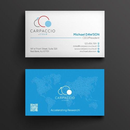 Give More Muscle To Research With Graphic Id For Carpaccio Cloud Design By Kendhie Business Card Design Cards Logo Design Inspiration