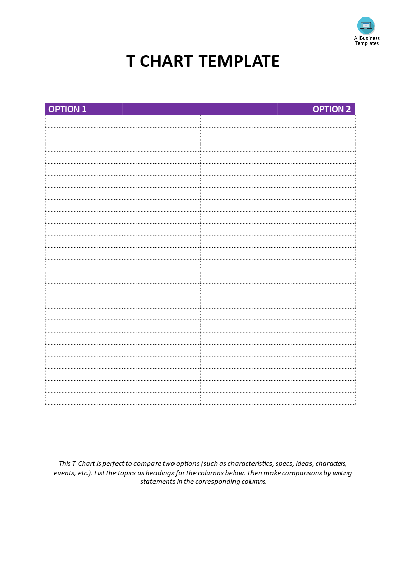 T Chart Template Do You Need A Printable T Chart Download This T Chart Model Word Template Now To Simplify Your Choice And Mak Templates Chart Word Template
