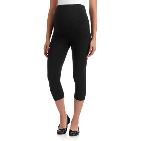 90b6f9a5a48aa5 Oh! Mamma Maternity Full-Panel Capri Leggings-- Available in Plus Size -  Walmart.com