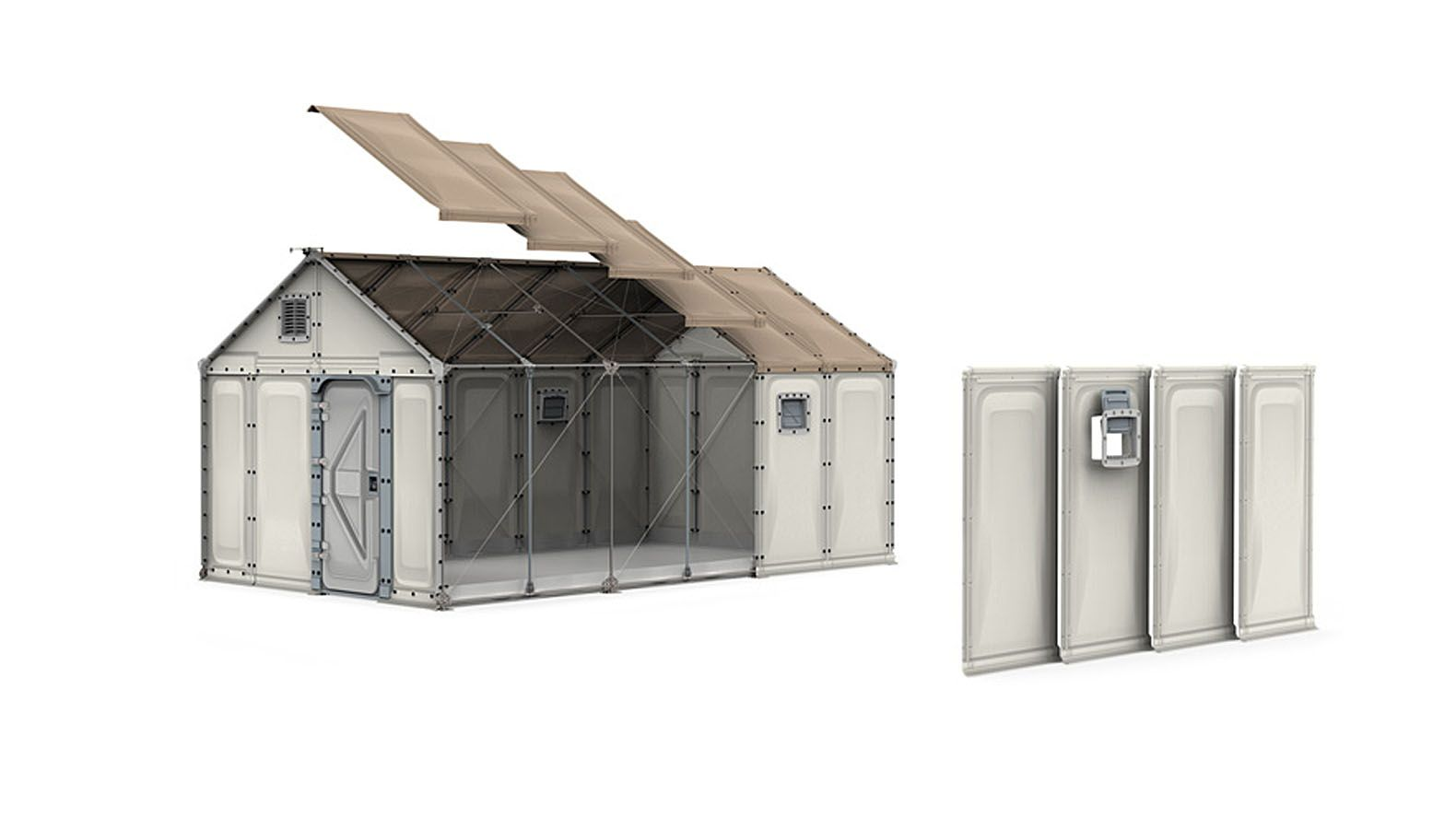 IKEA's Modular Better Shelter Housing Unit is a solar-powered ... on