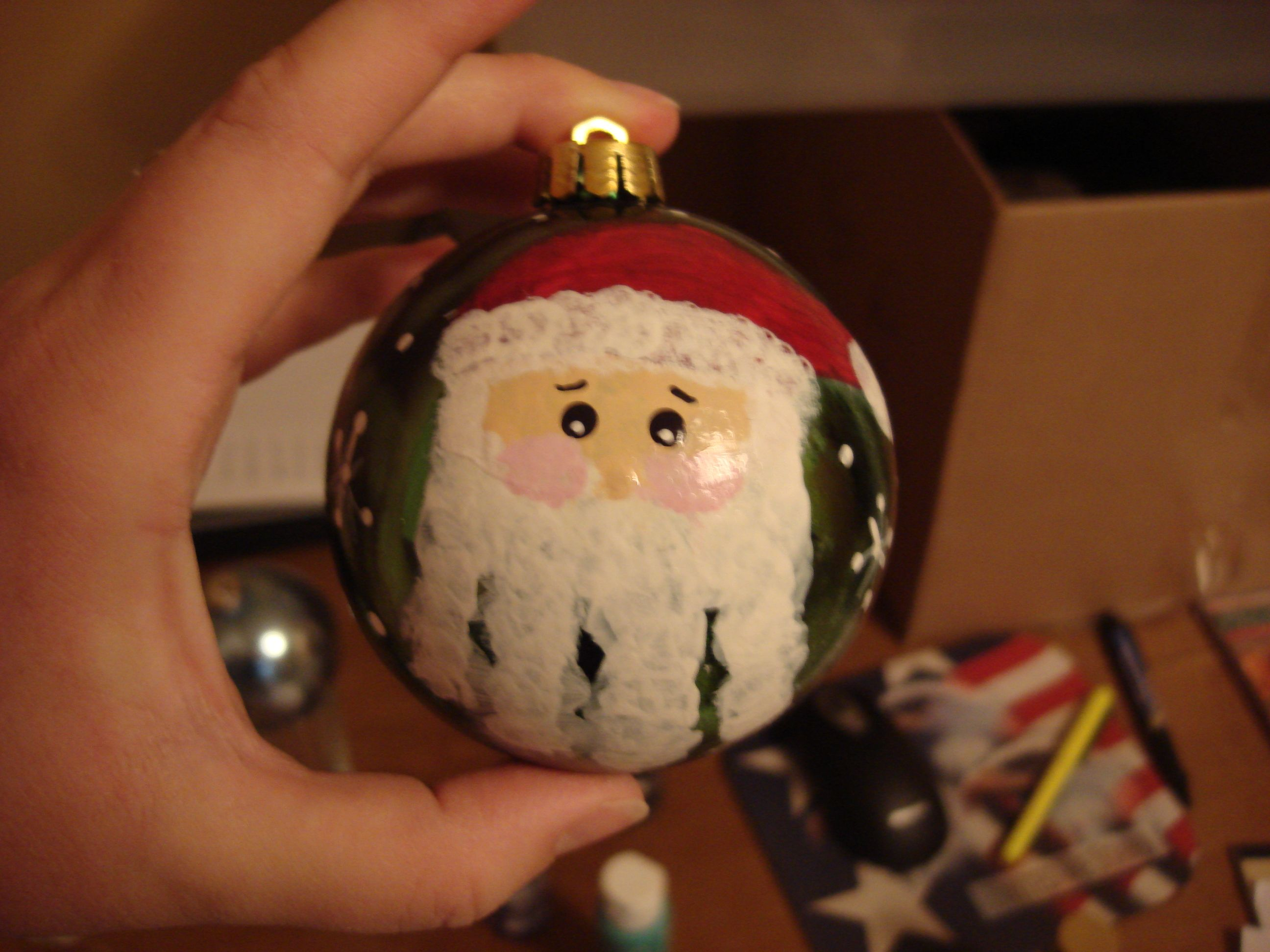 Handprint Santa Ornament My Ornament For The Tree Next Year Ces Kids Christmas Ornaments Christmas Ornaments Diy Kids Diy Christmas Ornaments