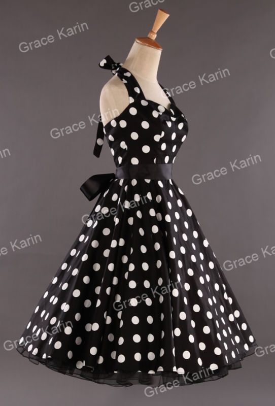 816257b06 IN 8Colors Vintage Swing 1950s Housewife Retro Pinup Evening Dresses ...
