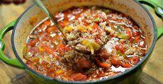 When That First Bite Of Cold Air Nips At Your Nose, Warm Up With Stuffed Pepper Soup!
