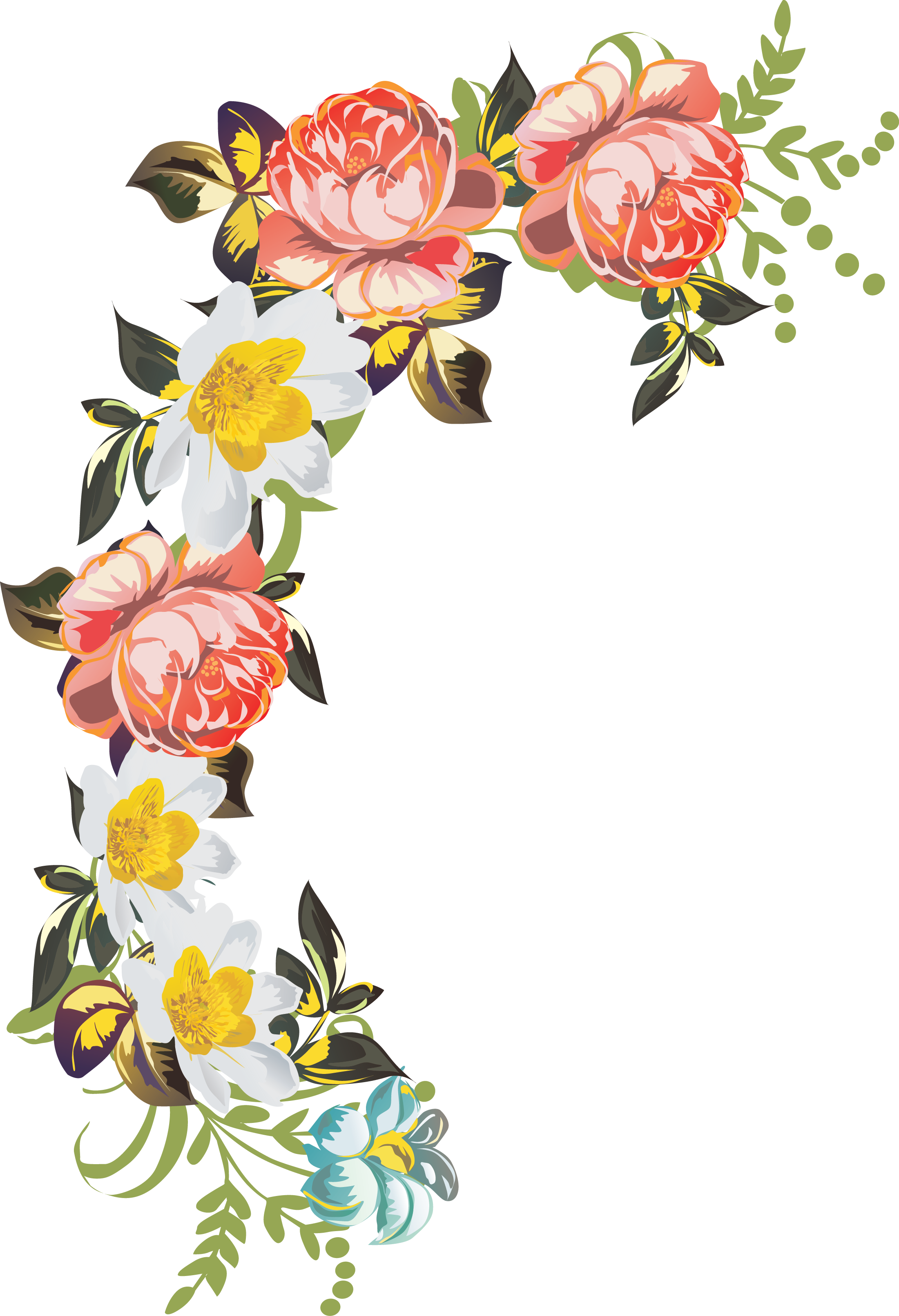 beautiful flowers Desenler ve Ürünler