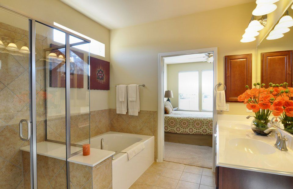 Master Bathroom Layout Frisco Lakes Active Adult Community - Webb bathroom remodeling