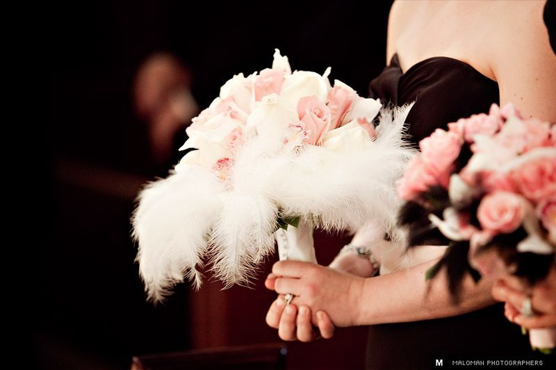 Hollywood glam theme bouquets