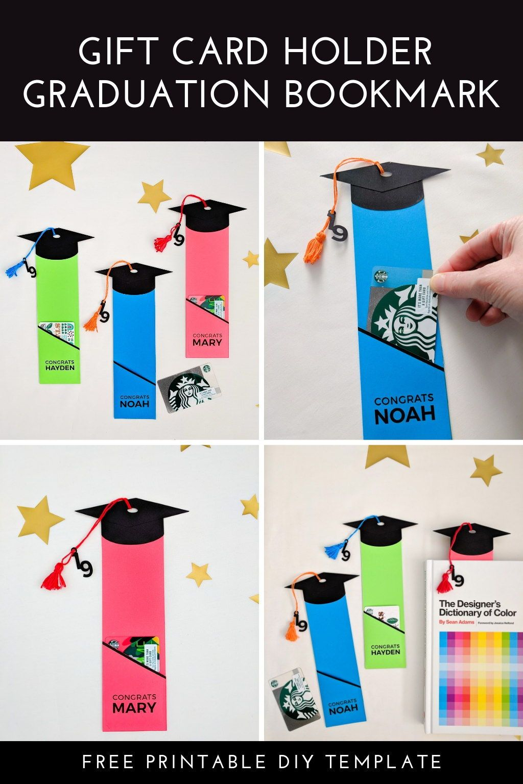 Graduation Gift Card Holder Free Printable Template