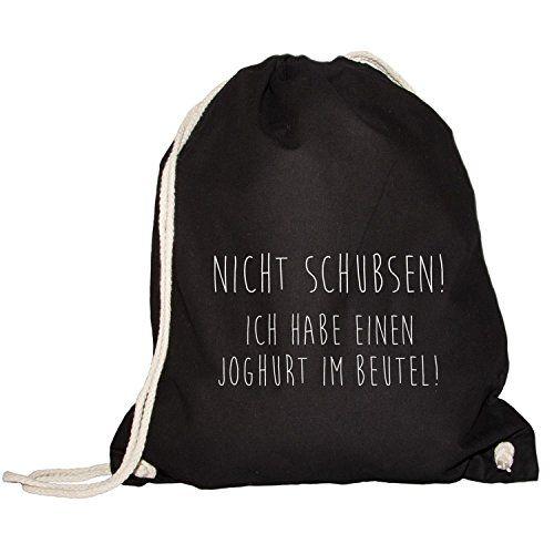 Turnbeutel - Rucksack - Nicht schubsen! Joghurt im Beutel - FUN, Black Umkleidekabine http://www.amazon.de/dp/B00XQHMBWY/ref=cm_sw_r_pi_dp_JPsUvb12P6637