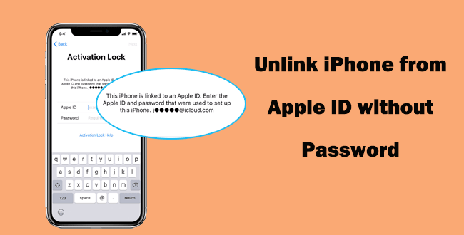 This iPhone is linked to an Apple ID. Enter the Apple ID