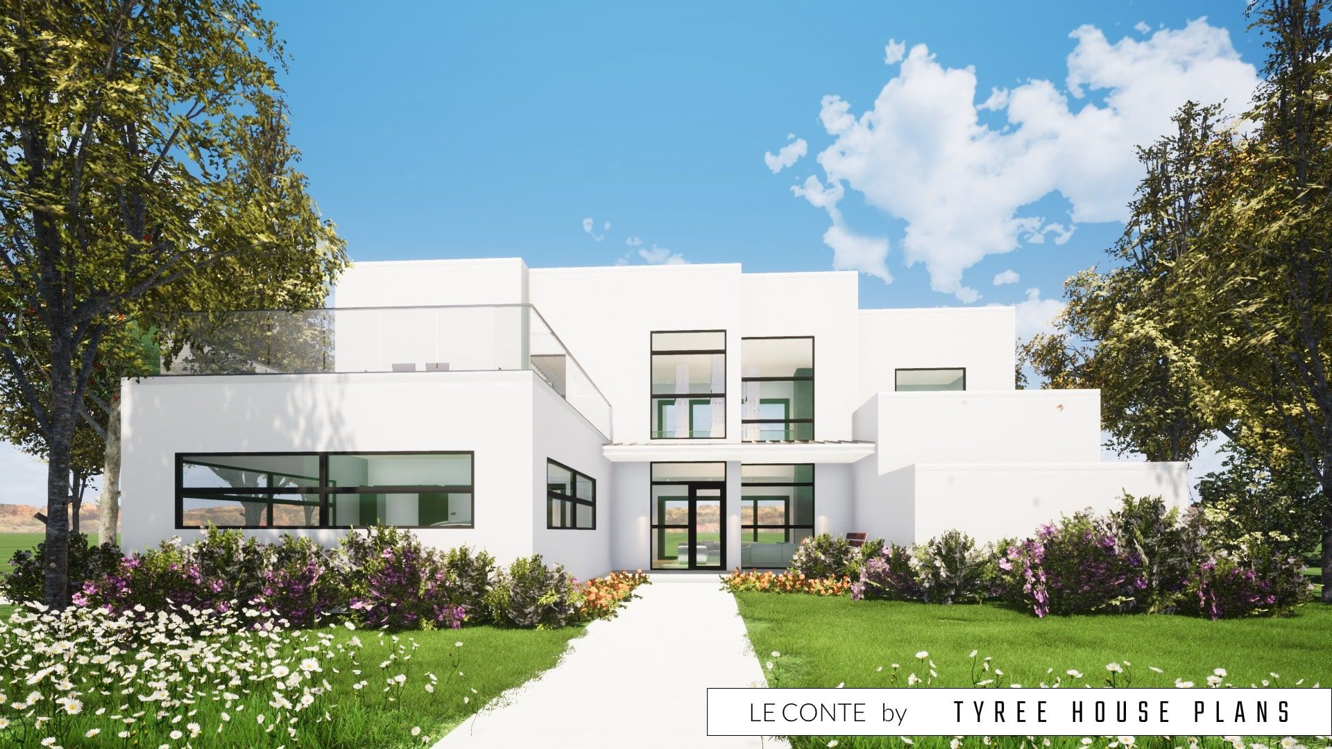 4 Bedroom Modern Home with Private fice Tyree House Plans