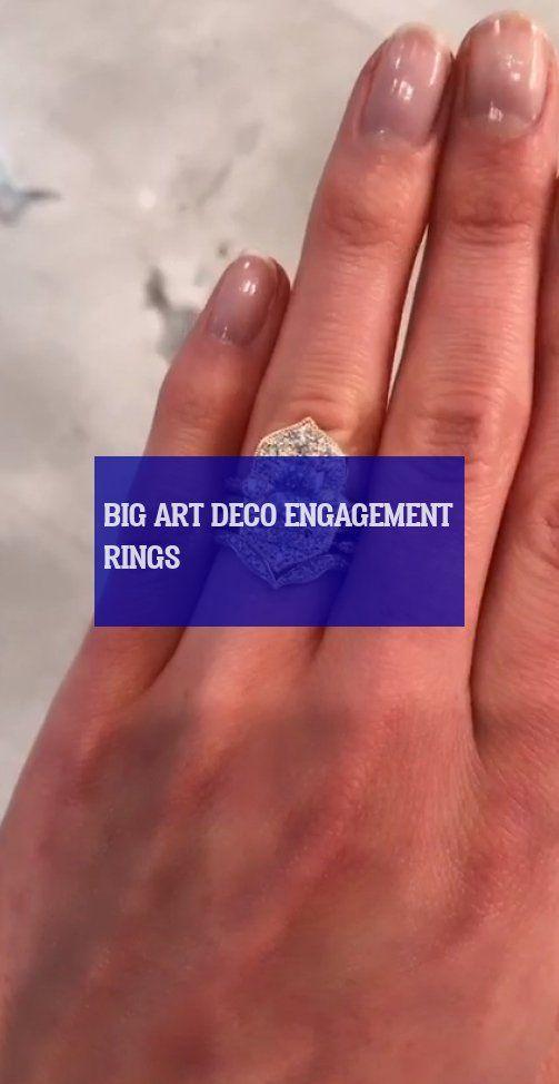 big art deco engagement rings