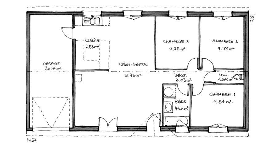Maison Nova - Maison classique - IGC Construction maison - Plan Maison Sweet Home 3d
