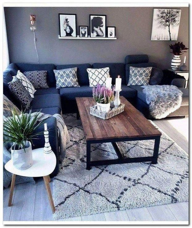 44 Using Black And Grey Living Room Apartments Decor Blackandgreylivingroom Living Living Room Decor Rustic Modern Rustic Living Room Small Living Room Decor