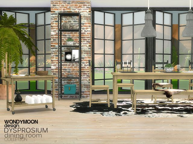 Sims 4 CC's - The Best: Diningroom by Wondymoon