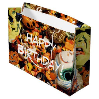 Halloween Wallpaper Large Gift Bag - birthday gifts party - halloween gift bag ideas