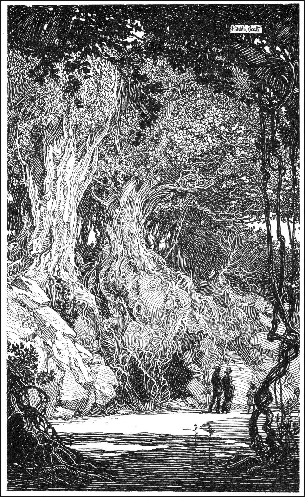 Ink Illustrations, Franklin Booth
