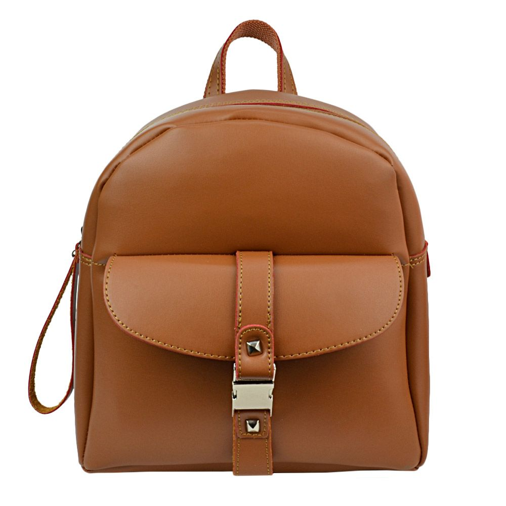 be40fae224 Γυναικεία τσάντα πλάτης της συλλογής PR σε χρώμα ταμπά. Με φερμουάρ ...