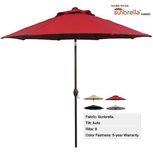 Abba Patio 9 Ft Patio Umbrella Sunbrella Fabric Aluminum Market