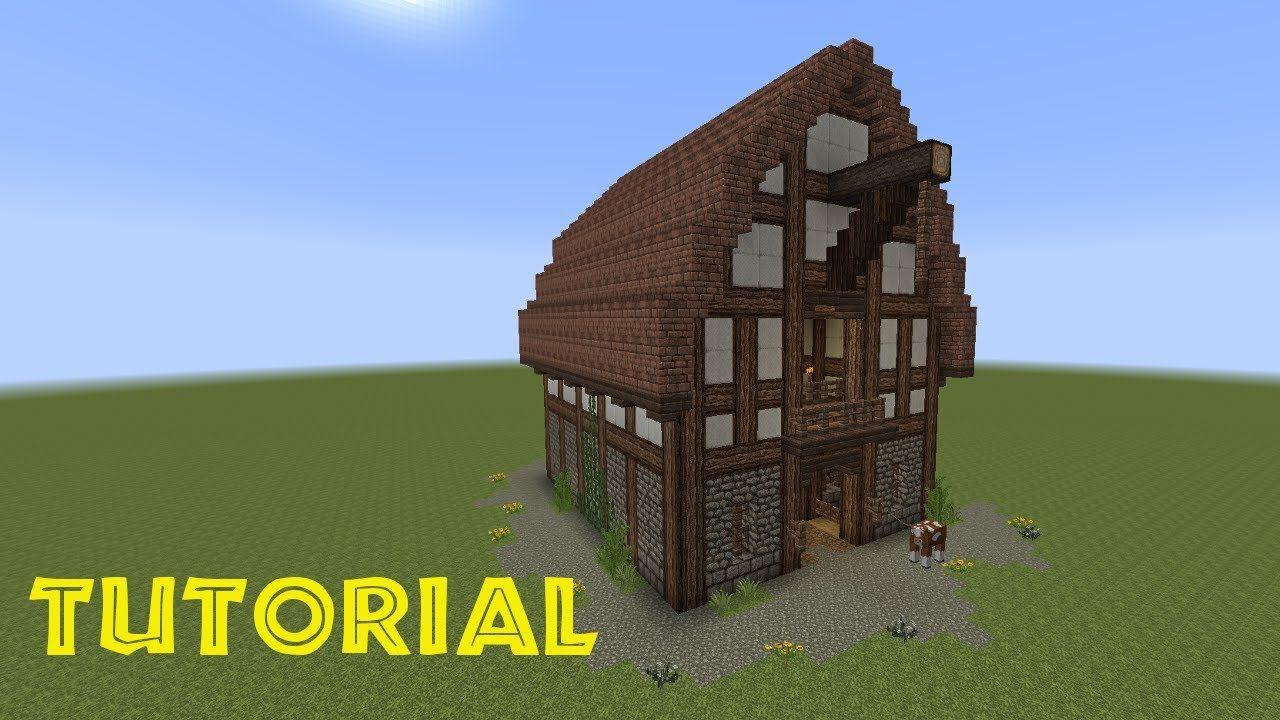 Minecraft tutorial eine scheune bauen