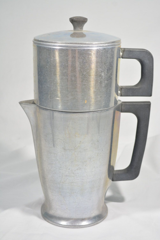 MAJESTIC Cookware 8 cup Coffee Pot - Tea Pot - Pour Over - Drip Coffee Pot - Aluminum Alloy - Cast Aluminum by HeidisWorldHobbies on Etsy