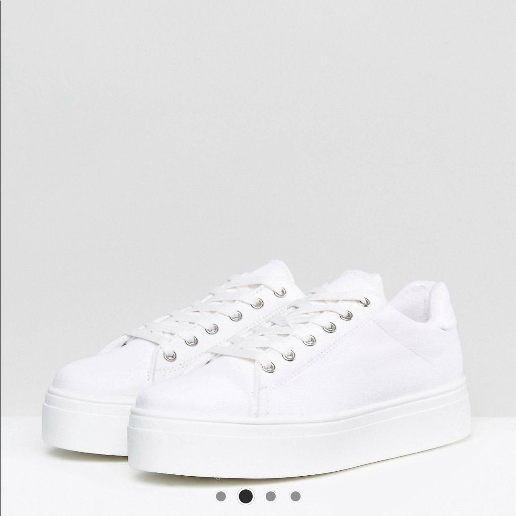 ASOS chunky platform lace up sneaker in