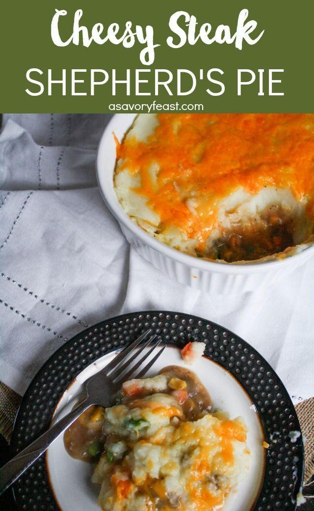 Cheesy Steak Shepherd's Pie | Recipe | Food recipes, Beef ...