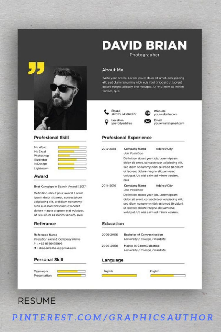 27+ Most professional looking resume Format
