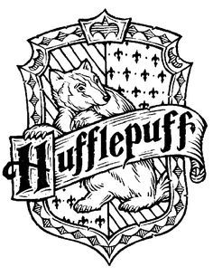 Harry Potter Hogwarts House Crests Black And White