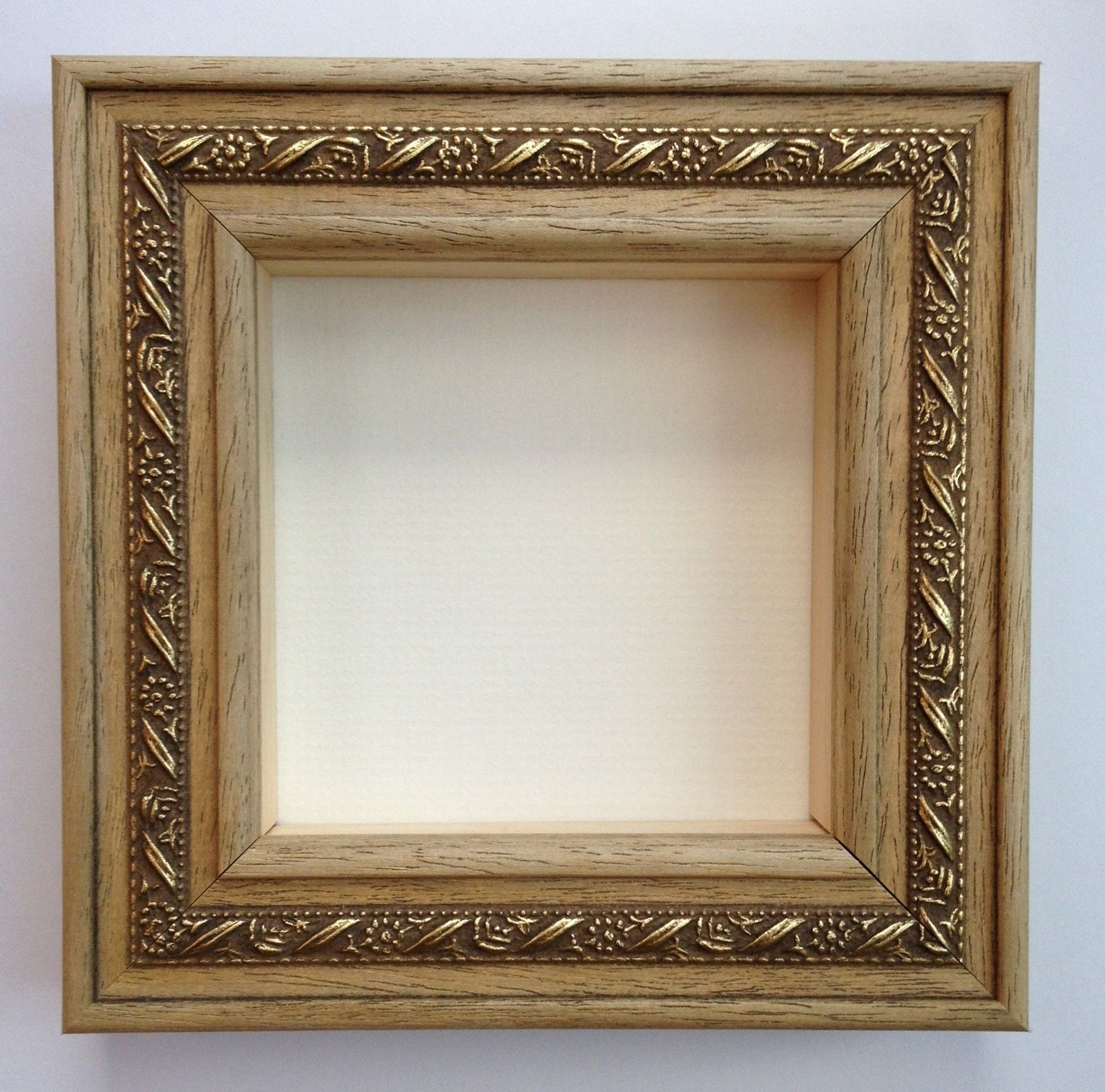 CLEARANCE* NATURAL WOOD 3D BOX FRAME-FOR FRAMING CASTS/MEDALS-4x4 ...