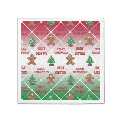 Merry Christmas to best sister Paper Napkin - #Xmas #ChristmasEve