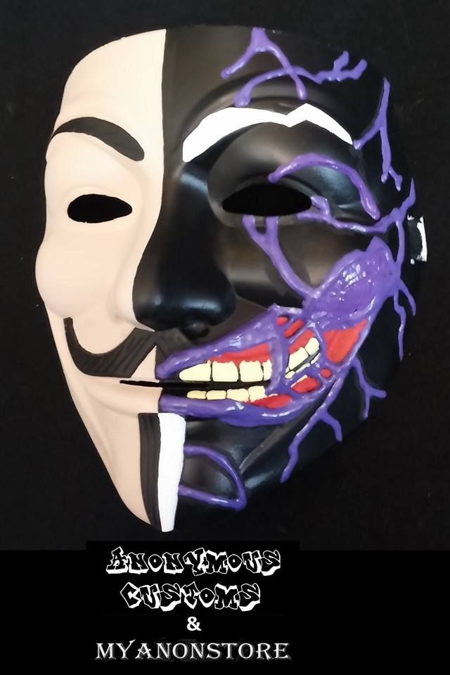 2 Face Harvey Dent Custom Anonymous Mask From Www Myanonstore Com