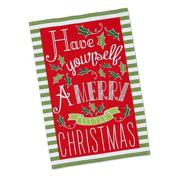 Merry Little Christmas Printed Dishtowel Wholesale Gifts And Holiday Decor Www Designim Christmas Prints Christmas Gift Decorations Merry Little Christmas