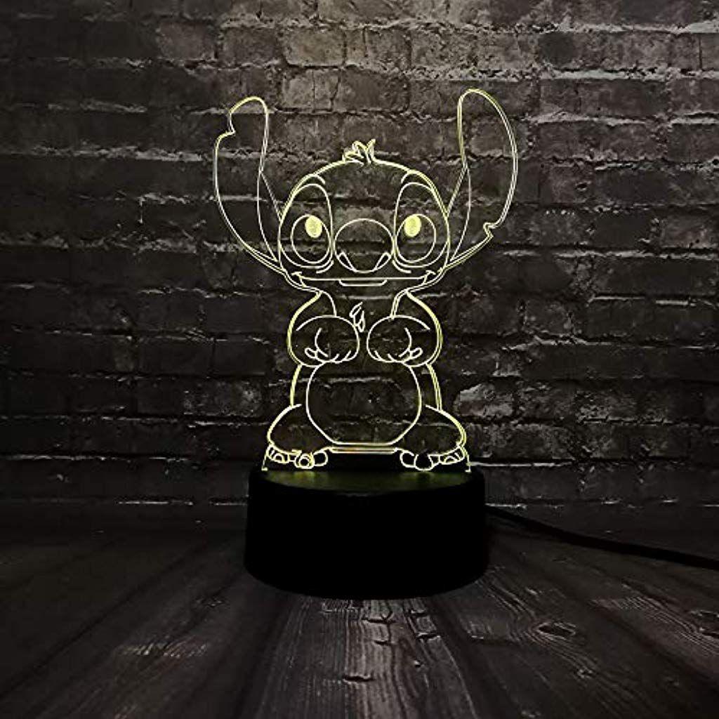3d Lampe Sweet Elf Nachtlicht Optische Tauschungen 7 Farbwechsel Acryl Touch In 2020 Nachtlicht Nachtleuchte Farbwechsel