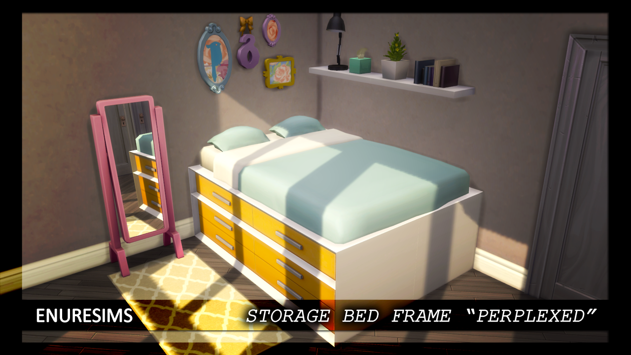 """STORAGE BED FRAME """"PERPLEXED""""On my blog • The bed frame"""