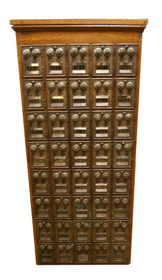 Post Office Box Cabinet Salvaged from an old United States Post ...