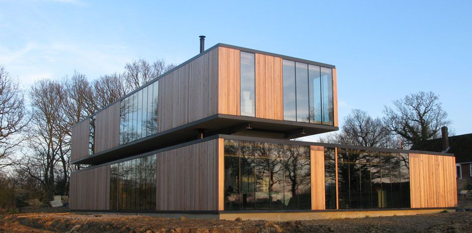 Eldridge Smerin House in Ulcombe Kent cross laminated timber