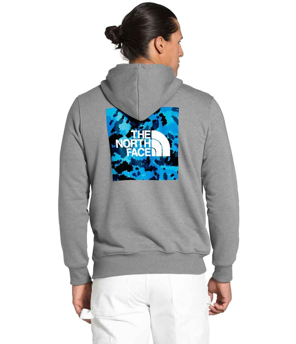 The North Face 2 0 Box Pullover Hoodie For Men In Medium Grey Blue In 2021 North Face Jacket Womens Hoodies Men North Face Womens Coat [ 1163 x 1000 Pixel ]