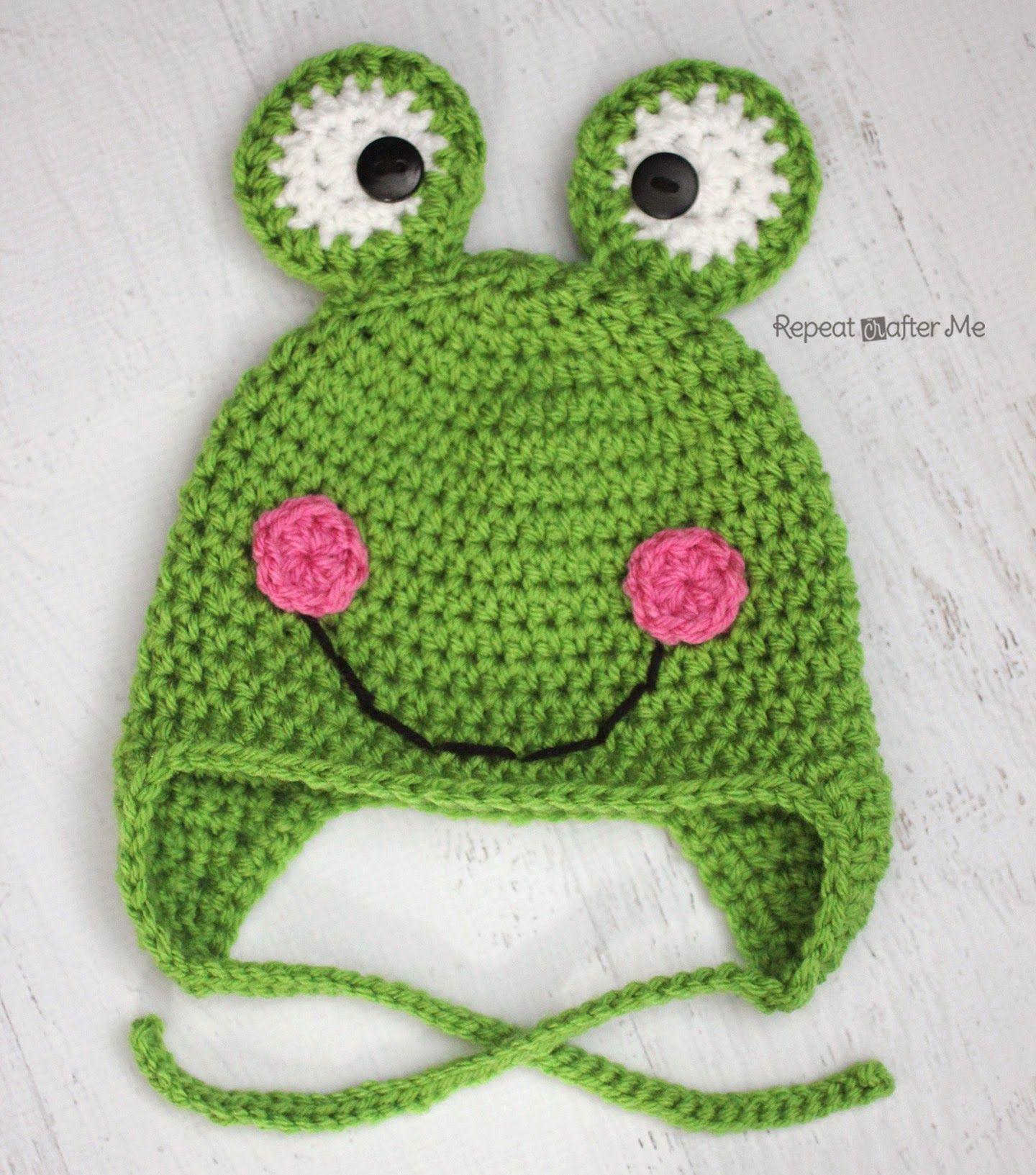Frog Hat | Crochê | Pinterest | Ranas, Patrones para sombrero de ...
