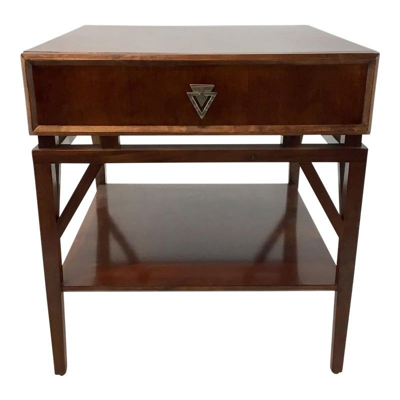 Modern Mahogany Finished Tray Blen End Table In 2020 End Tables
