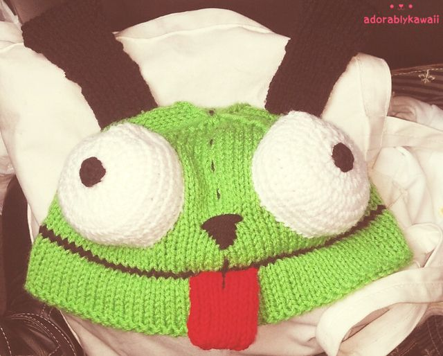 Adorably Kawaii Invader Zim Gir Hat Crochet Pinterest Invader
