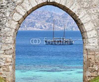 View on the Red Sea from a coral beach - Fototapeten Marinestil - FIXAR.de