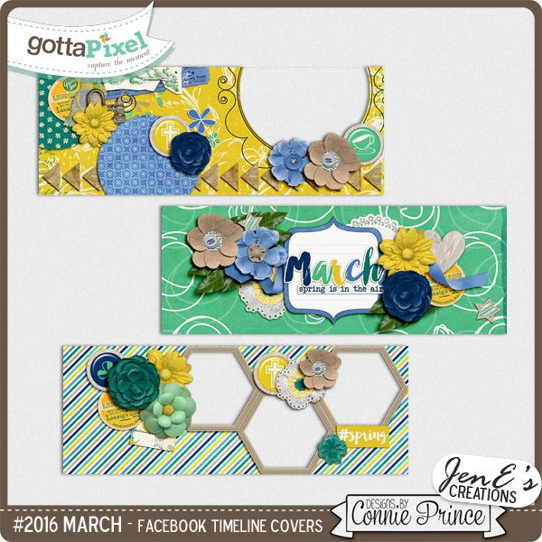 #2016 March - Facebook Timeline Covers :: Gotta Pixel Digital Scrapbook Store by Connie Prince $2.99