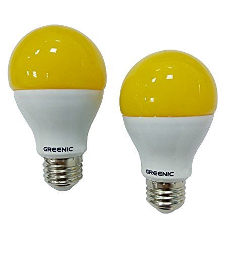 Greenic 60watt Amber Yellow Led Bug Light Bulb 2 Pack No Https
