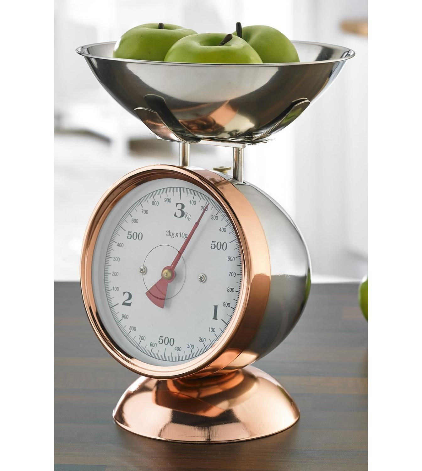 Image For Mechanical Copper Coated Kitchen Scales From Studio